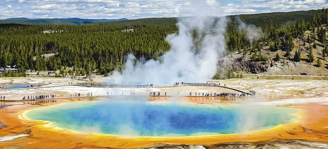 Large grand prismatic yellowstone  2x